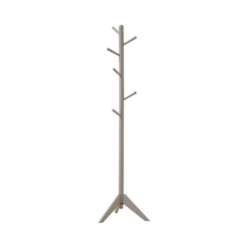 Used Coat Rack Constructed In Grey Rubberwood Finish for sale on AptDeco
