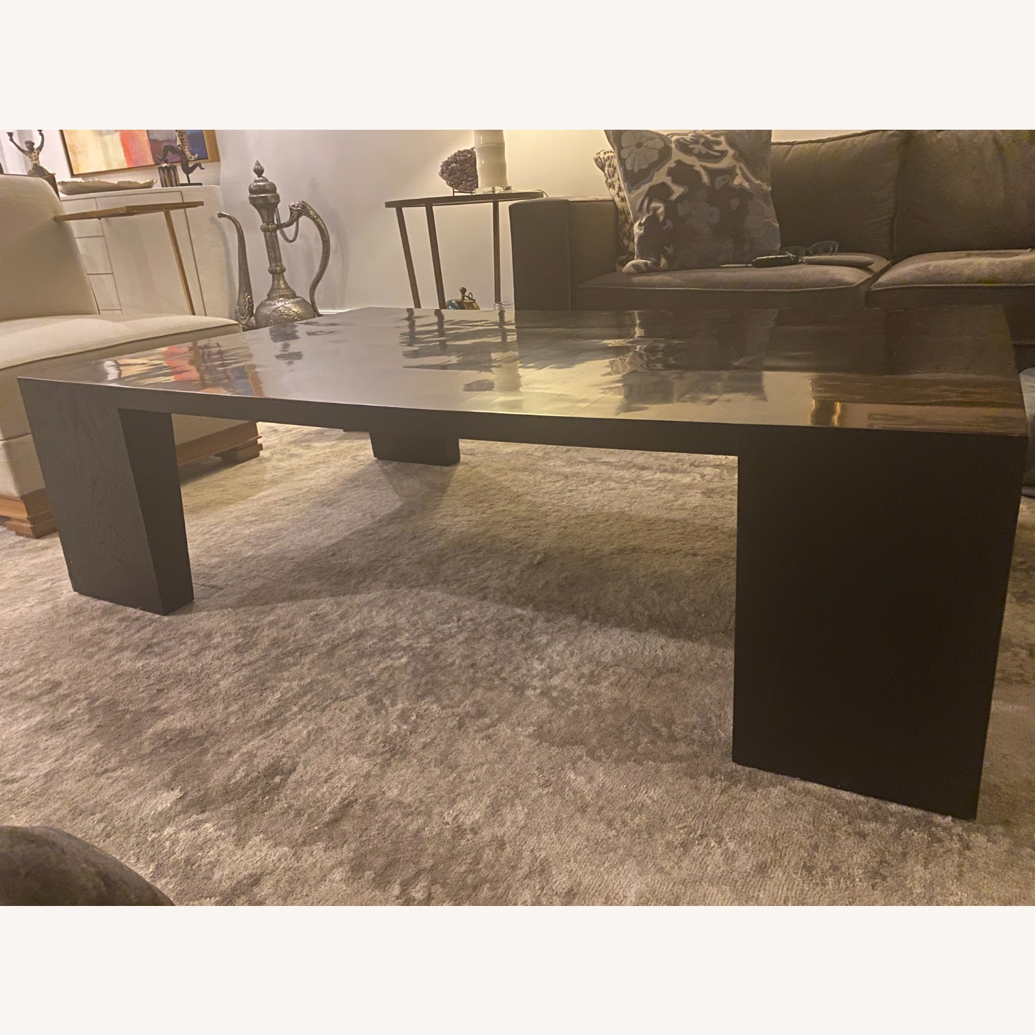 Restoration Hardware Wyeth Bamboo Rectangle Coffee Table - image-3