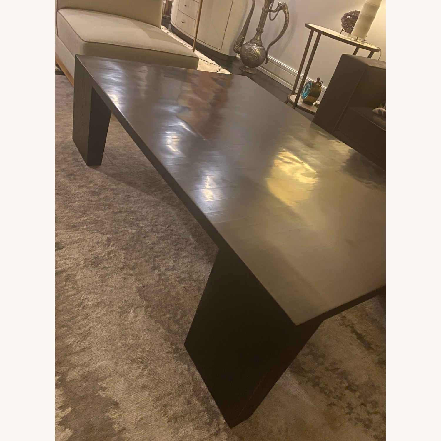 Restoration Hardware Wyeth Bamboo Rectangle Coffee Table - image-4