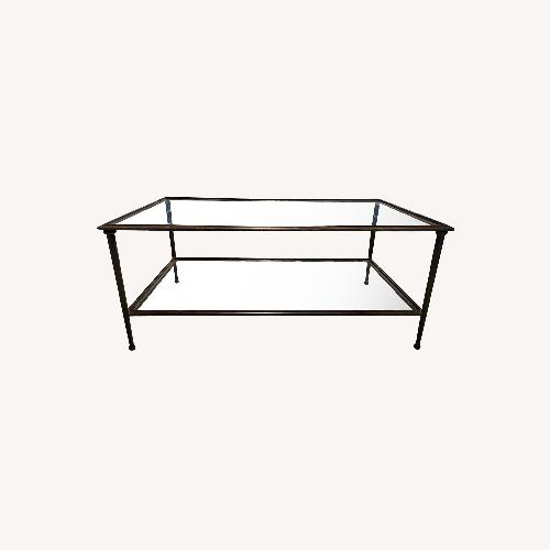 Used Crate & Barrel Glass Coffee Table for sale on AptDeco