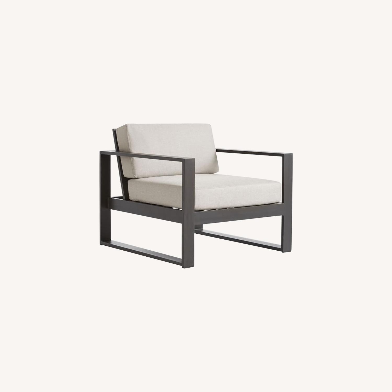 West Elm Portside Aluminum Outdoor Lounge Chair - image-0