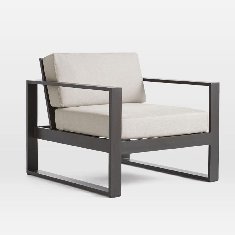 West Elm Portside Aluminum Outdoor Lounge Chair - image-1
