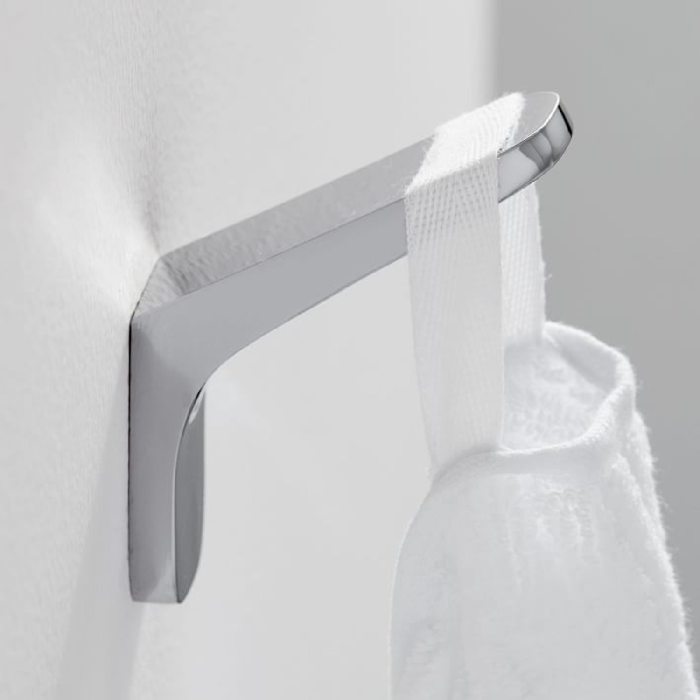 West Elm Bathroom Hardware, Chrome, Towel Hook - image-3