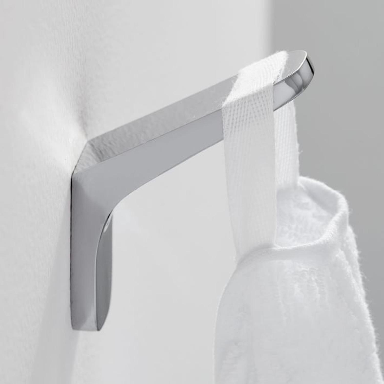 West Elm Bathroom Hardware, Chrome, Towel Hook - image-1
