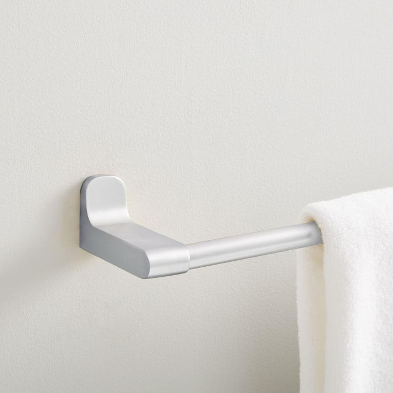 West Elm Towel Bar, Chrome - image-1