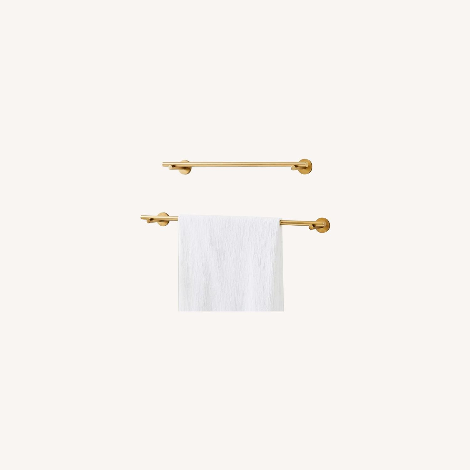 West Elm Modern Overhang Towel Bar - image-0