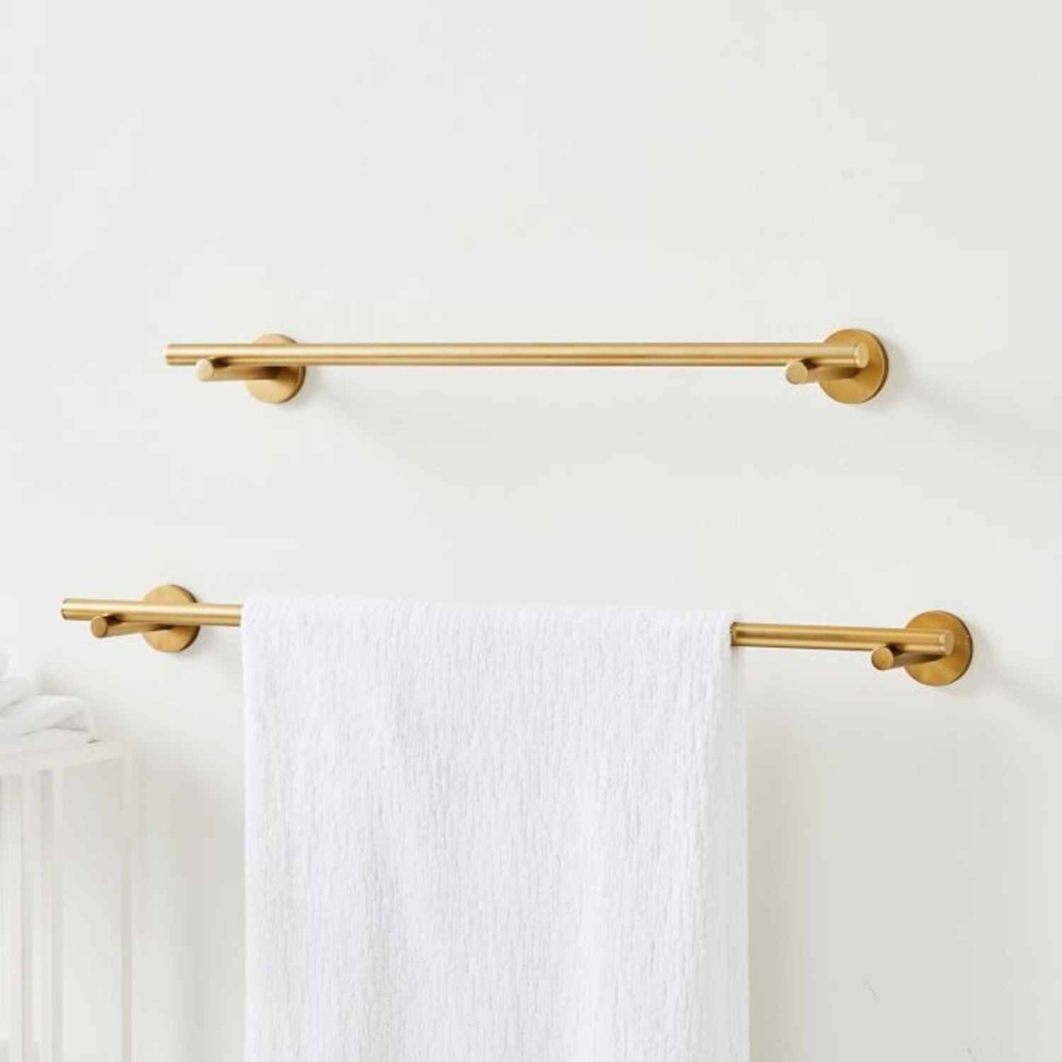 West Elm Modern Overhang Towel Bar - image-3