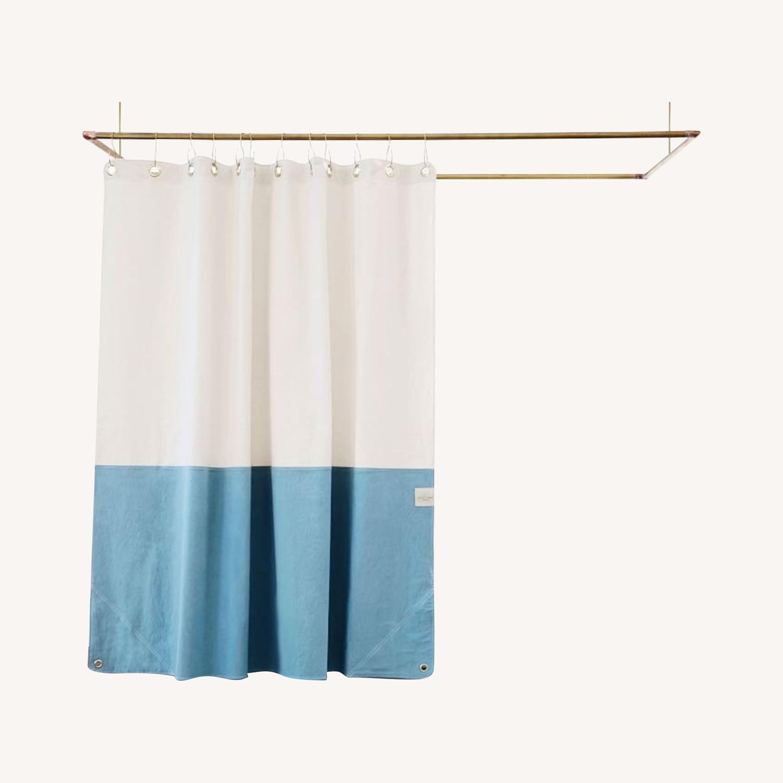 West Elm Quiet Town Home Orient Shower Curtain - image-0
