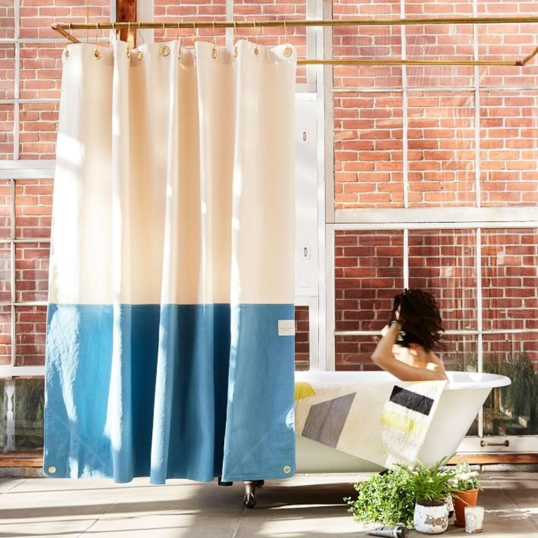 West Elm Quiet Town Home Orient Shower Curtain - image-2