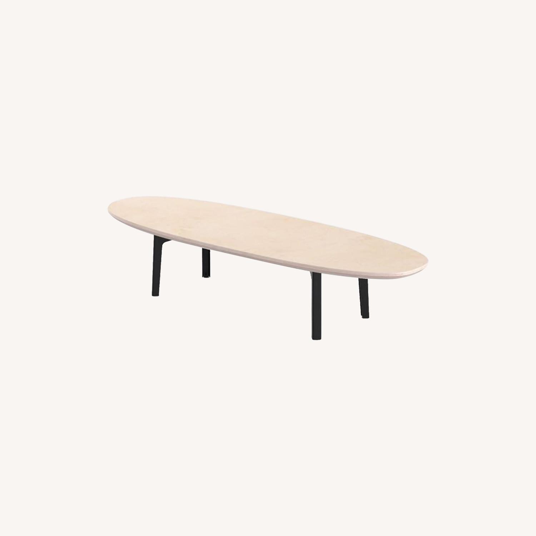 West Elm Floyd Oval Coffee Table, Black - image-0