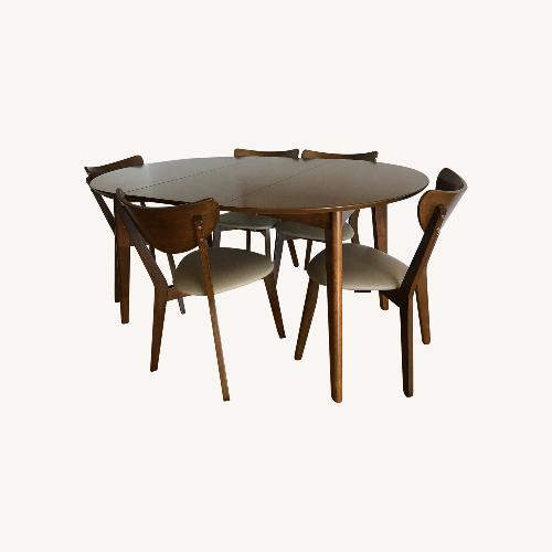 Used Mid-Century Modern Walnut Dining Table and Chairs for sale on AptDeco