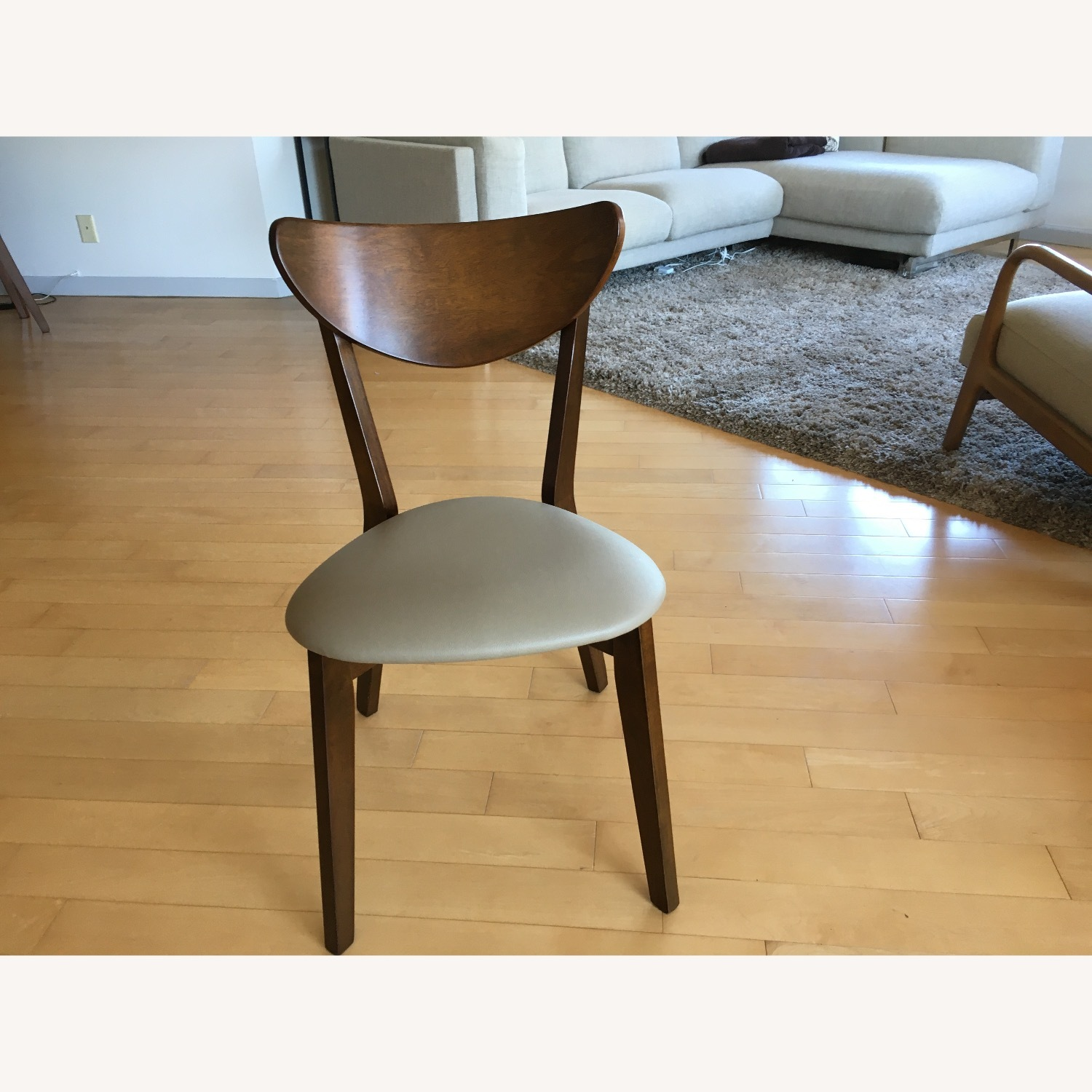 Mid-Century Modern Walnut Dining Table and Chairs - image-4
