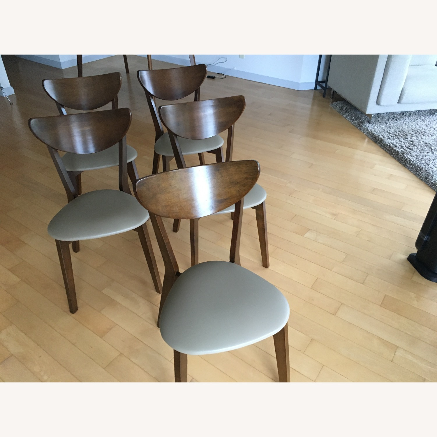 Mid-Century Modern Walnut Dining Table and Chairs - image-3