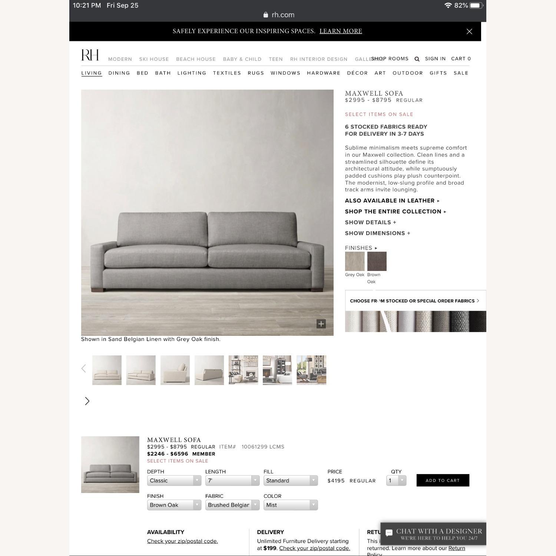Restoration Hardware Maxwell Sofa - image-4