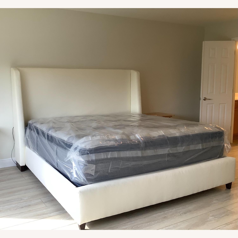 Restoration Hardware Belmont Fabric King Bed - image-1