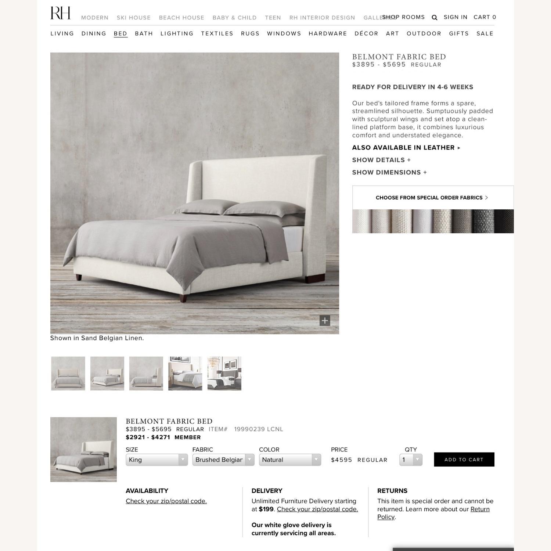Restoration Hardware Belmont Fabric King Bed - image-4