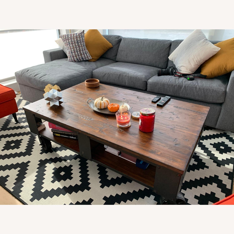 Living Spaces Industrial Coffee Table Aptdeco