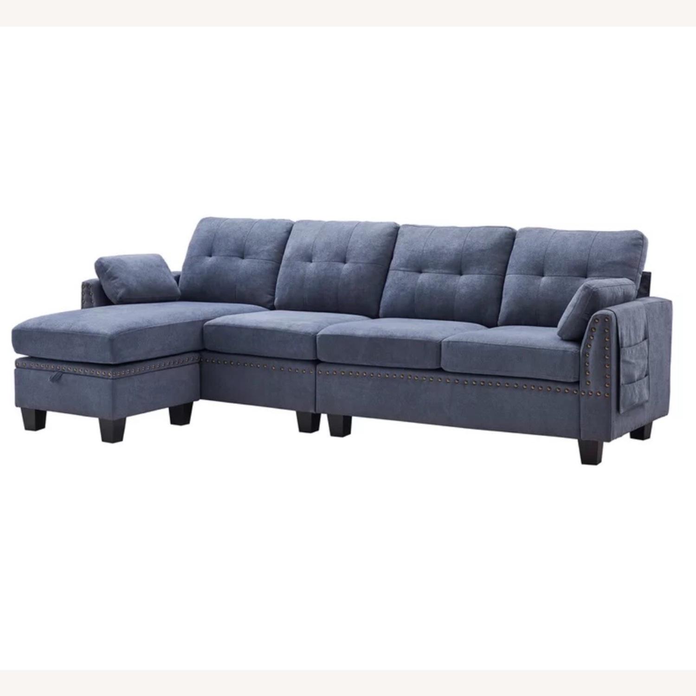 Picture of: Wayfair Sectional Blue Jean Color Aptdeco