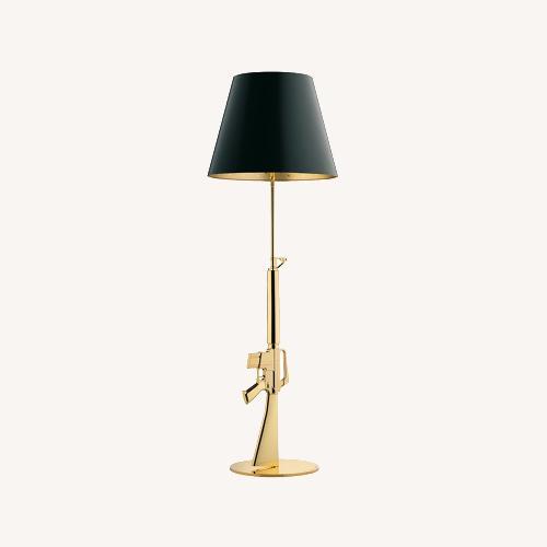 Used Flos Guns Lounge Floor Lamp in Gold for sale on AptDeco