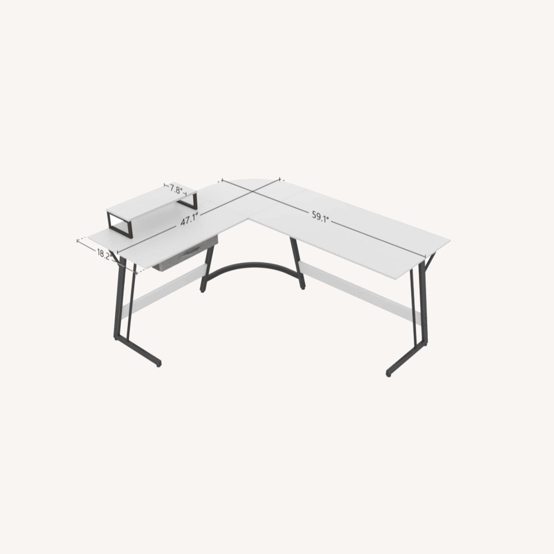 Image of: Furniture Usa Modern L Shaped White Corner Desk Aptdeco