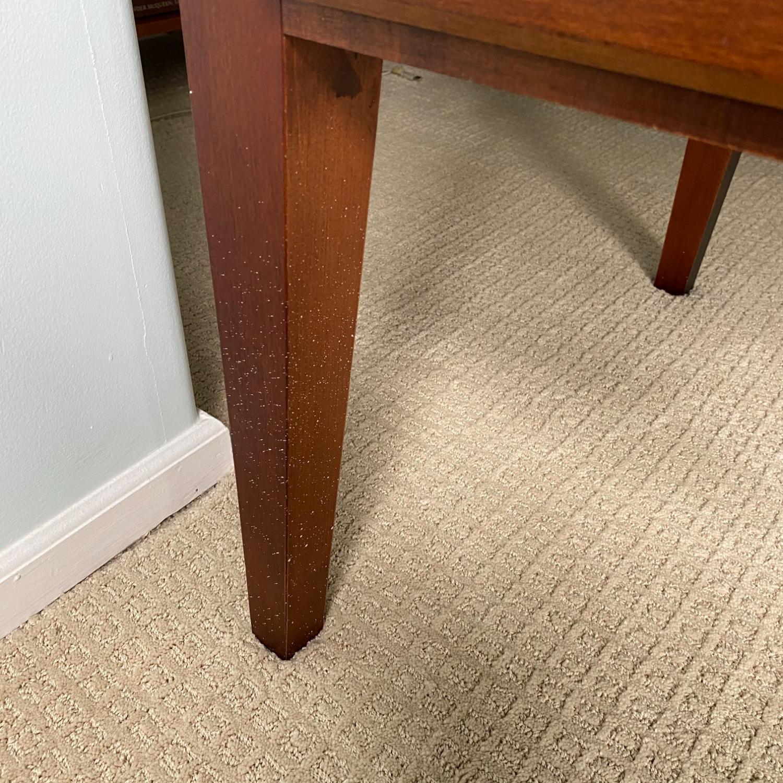 Ethan Allen Home Office Desk Brown Wood - image-10