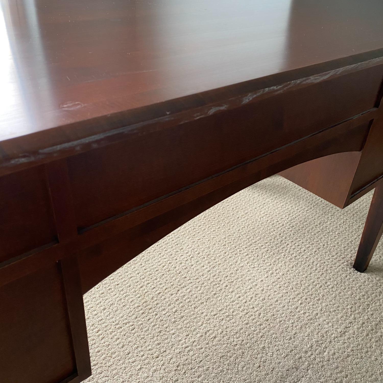 Ethan Allen Home Office Desk Brown Wood - image-18