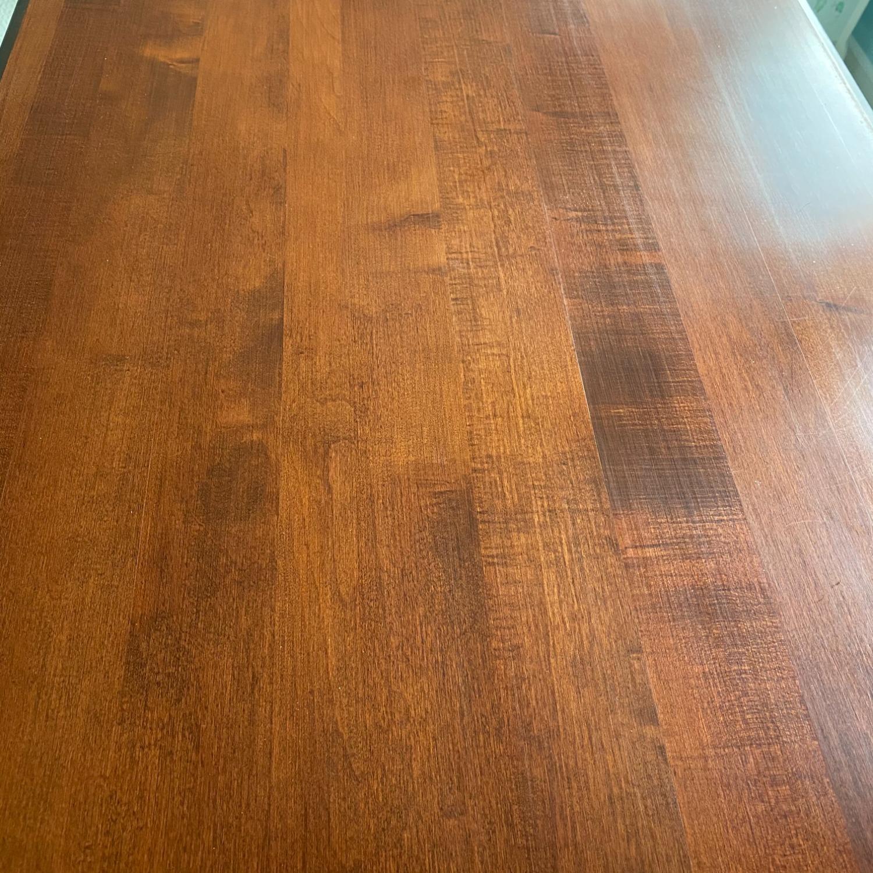 Ethan Allen Home Office Desk Brown Wood - image-14