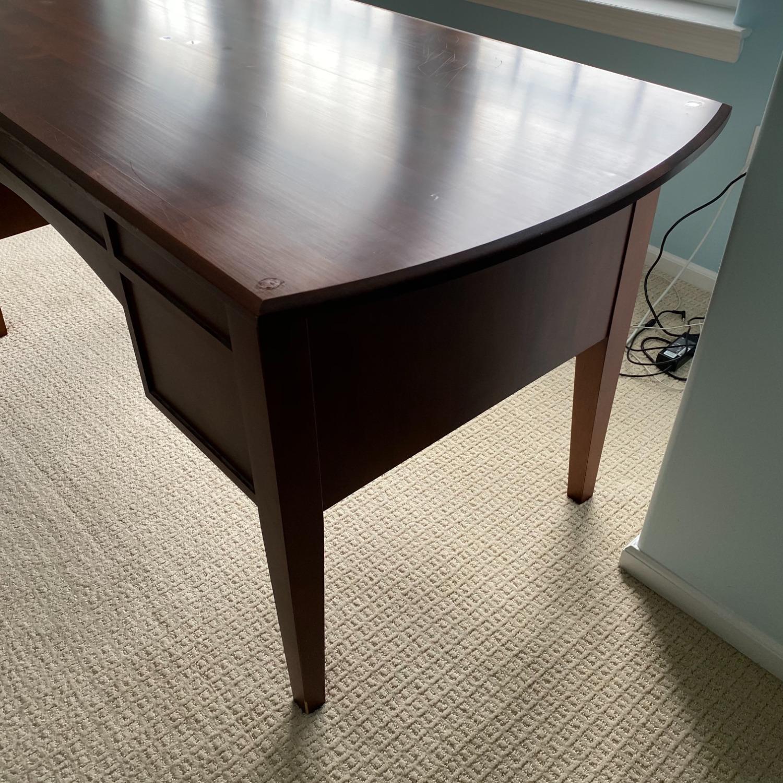 Ethan Allen Home Office Desk Brown Wood - image-17