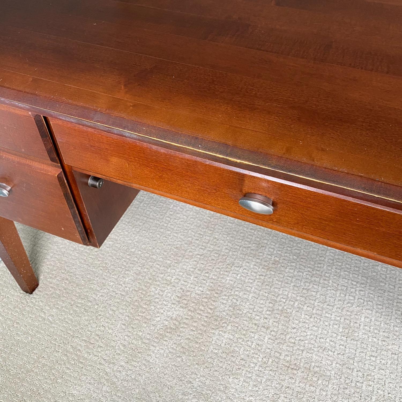 Ethan Allen Home Office Desk Brown Wood - image-11