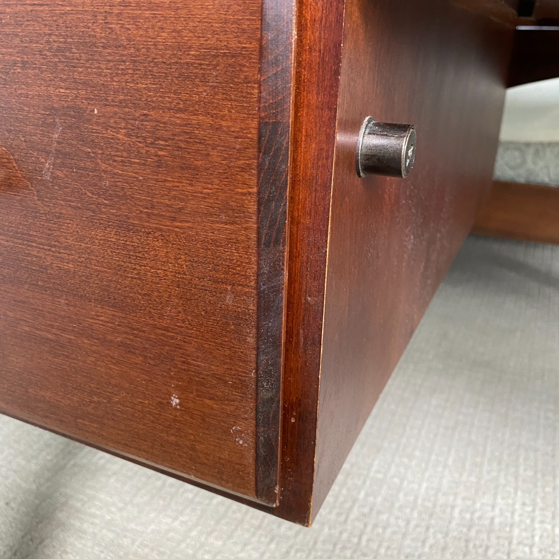 Ethan Allen Home Office Desk Brown Wood - image-9