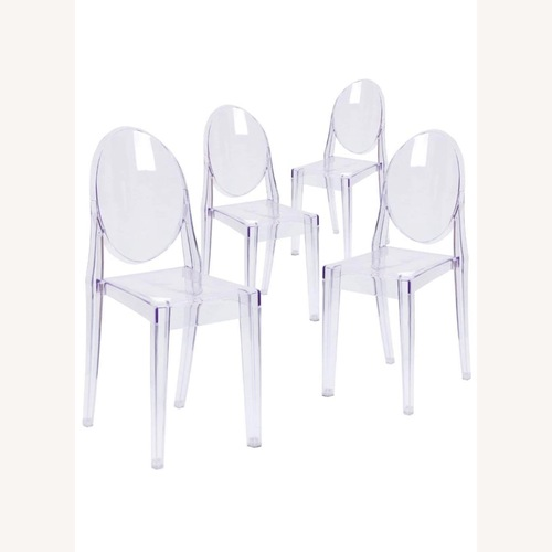 Used Flash Furniture Ghost Chairs Set of 4 for sale on AptDeco