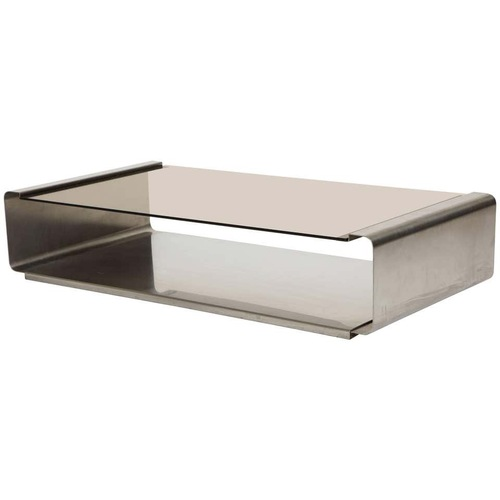 Used Francois Monnet 1970s Steel Glass Coffee Table for sale on AptDeco