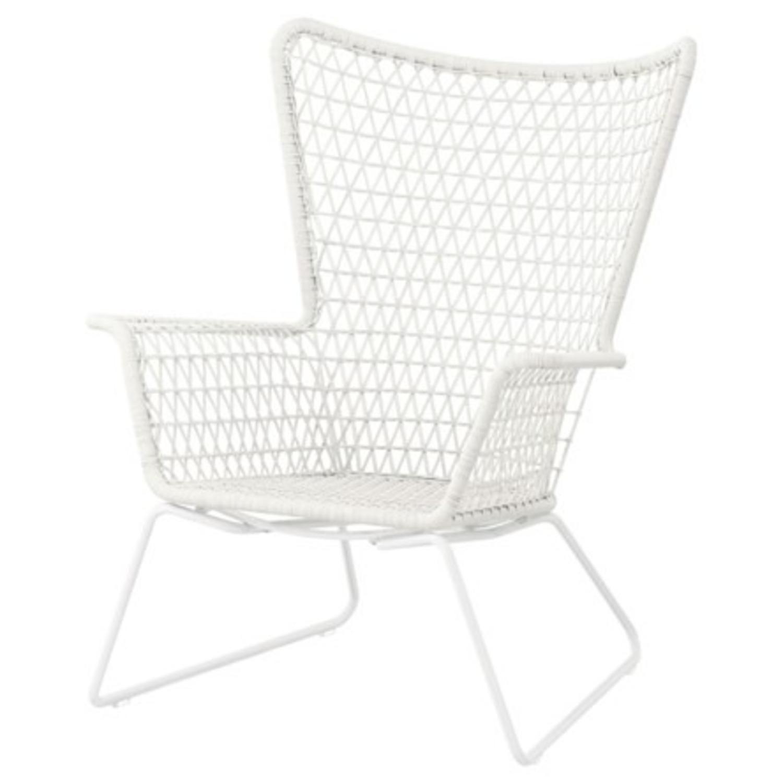 IKEA White Outdoor Armchair x2 - image-1