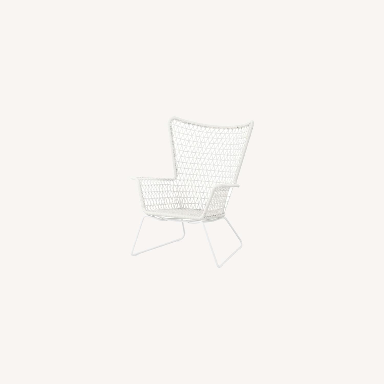IKEA White Outdoor Armchair x2 - image-0