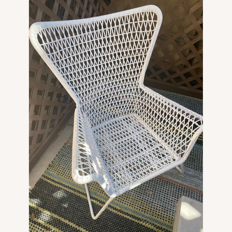 IKEA White Outdoor Armchair x2 - image-4