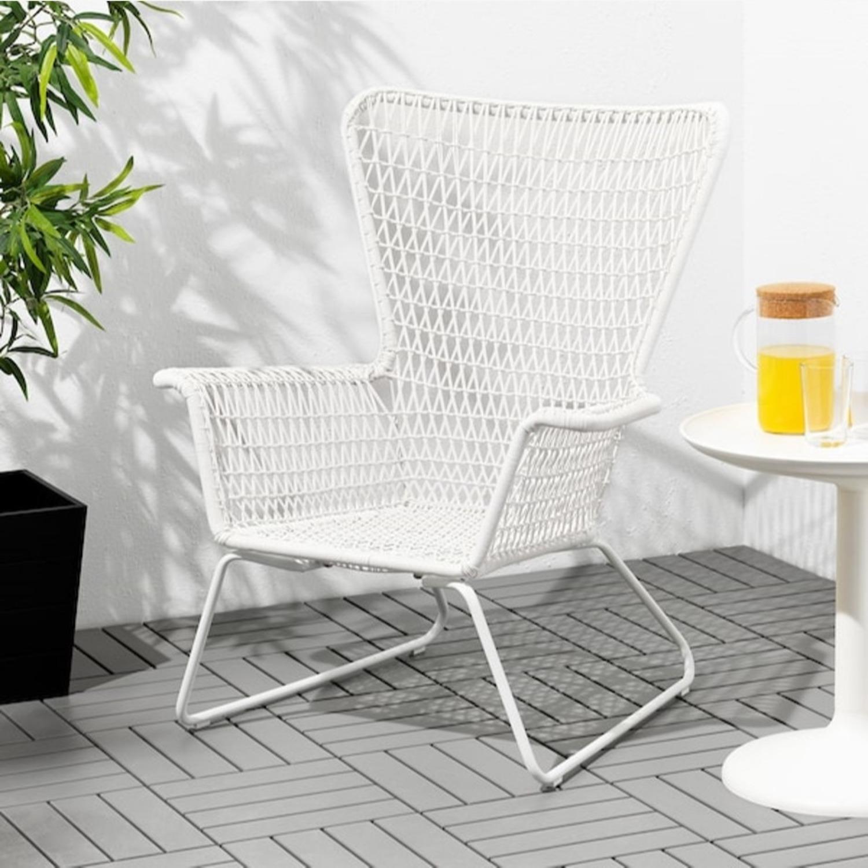 IKEA White Outdoor Armchair x2 - image-3