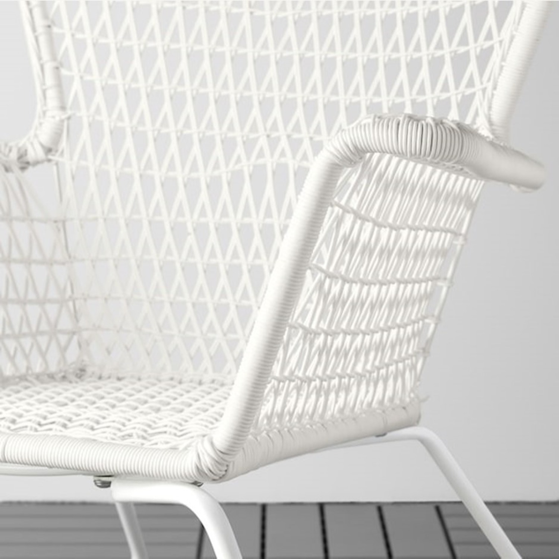 IKEA White Outdoor Armchair x2 - image-2