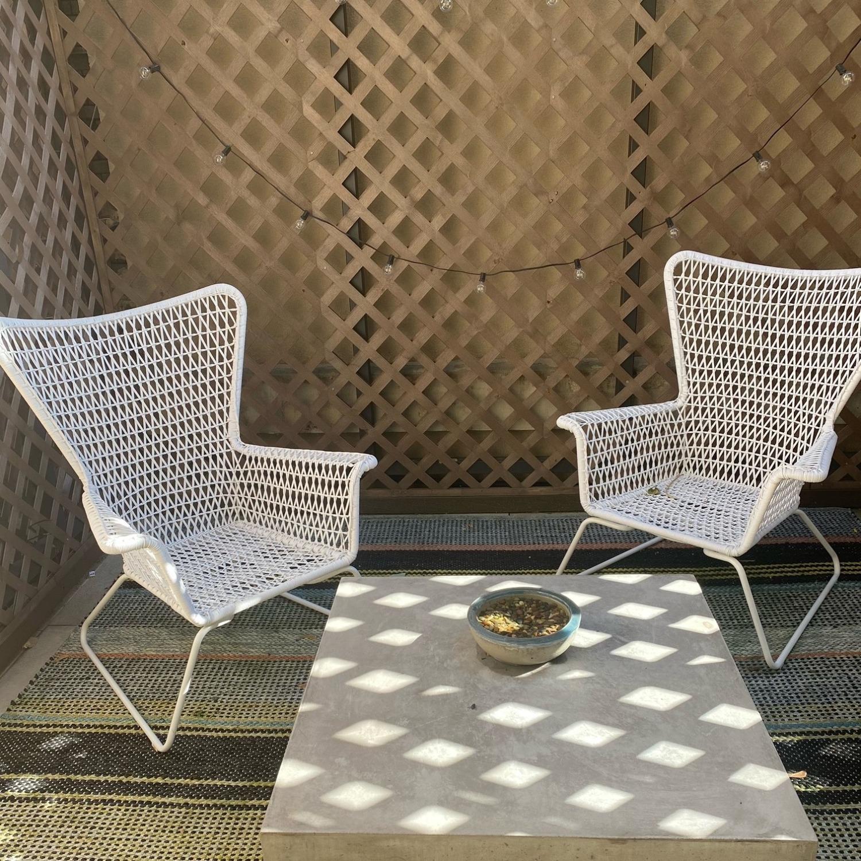 IKEA White Outdoor Armchair x2 - image-5