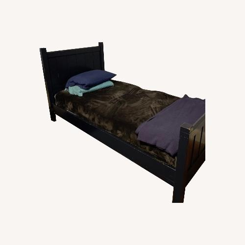Used Pottery Barn Navy Twin Bed for sale on AptDeco