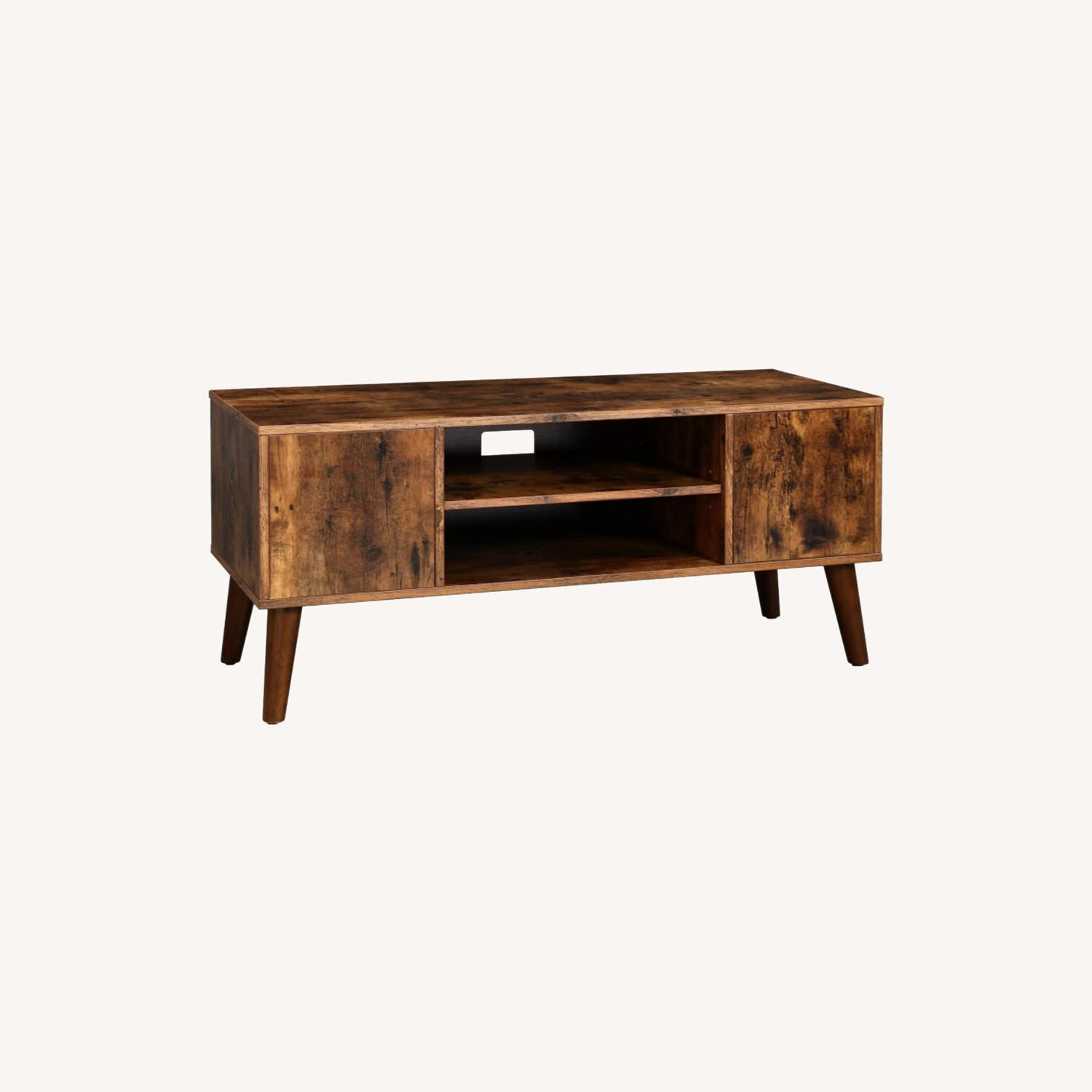 Picture of: Furniture Usa Mid Century Modern Rustic Wood Tv Stand Aptdeco