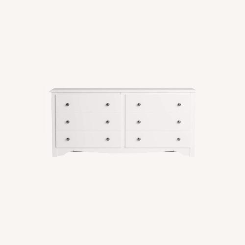 Used Furniture USA Monterey Vintage Style Dresser in White for sale on AptDeco
