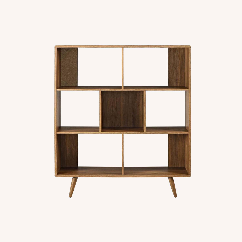 Mid Century Modern Bookcase In Walnut Aptdeco