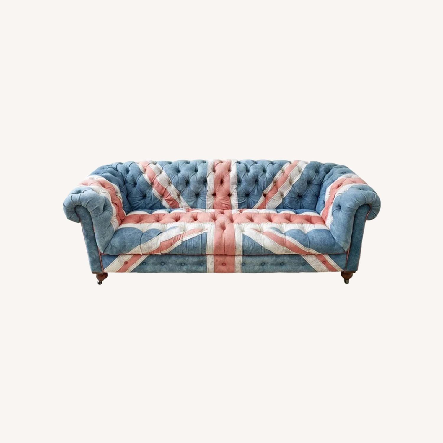 Timothy Oulton Design Union Jack Chesterfield Sofa - image-0