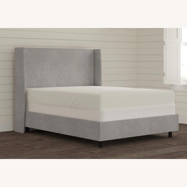 Grey Linen Bed Frame - image-1