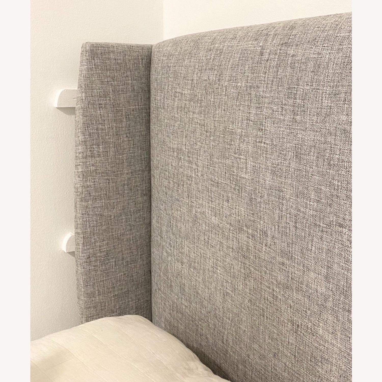 Grey Linen Bed Frame - image-5