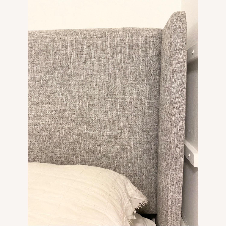 Grey Linen Bed Frame - image-4