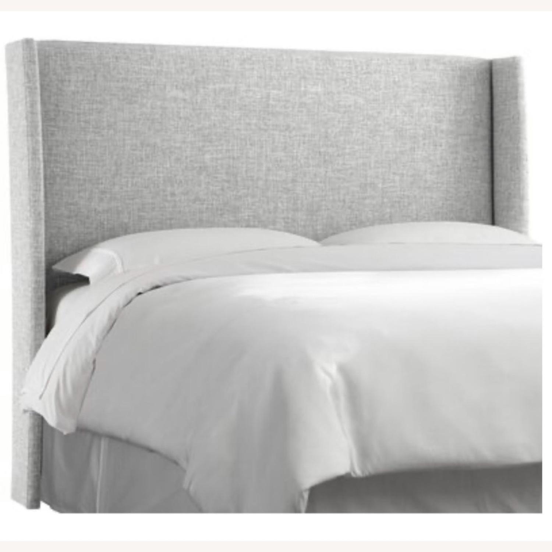Grey Linen Bed Frame - image-2