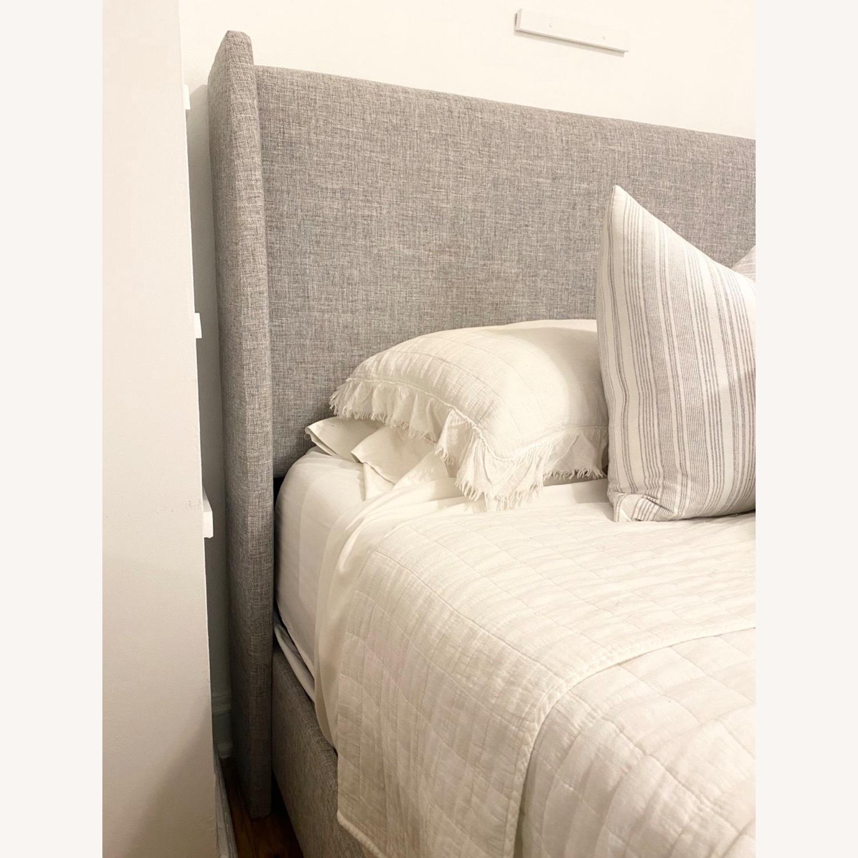 Grey Linen Bed Frame - image-3
