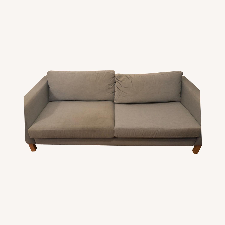 IKEA KARLSTAD Blue Fabric Sofa - image-0