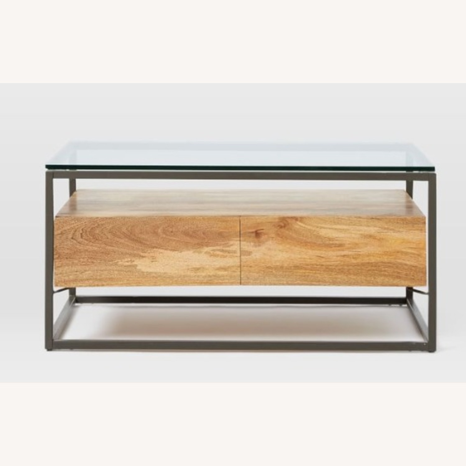 West Elm Box Frame Storage Coffee Table, Raw Mango, Large - image-3